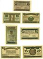 Banknotes Gernrode. Stadt. Billets. 50 pf, 25 pf (2ex), 50 pf (2ex), 75 pf (2ex) 9.5.1921
