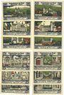Banknotes Gernrode. Stadt. Série de 12 billets. 50 pf (6 ex), 75 pf (6 ex) 21.10.1921