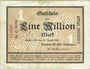 Banknotes Gerthe. Bergbau - Akt. Ges. Lothringen. Billet. 1 million mark 13.8.1923