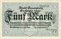 Banknotes Gevelsberg. Stadt. Billet. 5 mark 5.11.1918