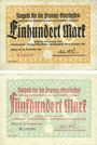 Banknotes Gießen. Provinzialkasse Gießen. Billets. 100 mark, 500 mark 30 sept 1922