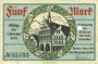 Banknotes Gießen. Stadt. Billet. 5 mark 1.11.1918, annulation par perforation