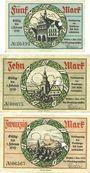 Banknotes Gießen. Stadt. Billets. 5 mark, 10 mark, 20 mark 1.11.1918