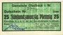 Banknotes Gladbeck. Gemeinde. B25 pf 22.4.1917, vert clair,annulation par cachet Entwertet au dos