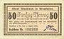 Banknotes Gladbeck. Gemeinde. Billet. 50 pf 1.4.1920