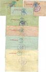 Banknotes Glashütte. Stadt. Billets. 1 mk, 2 mk, 3 mk, 5 mk, 10 mk, 20 mk, 50 mk. Annulation manuscrite au dos