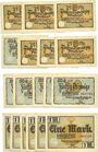 Banknotes Glashütte. Stadt. Billets. 25 pf (6ex), 50 pf (6ex), 1 mark (6ex) 1.8.1921