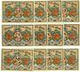 Banknotes Glatz (Klodzko, Pologne). Stadt. Billets.10 pf (4ex), 25 pf (4ex), 50 pf (4ex) (mai 1921)