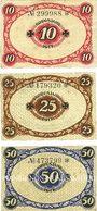 Banknotes Glauchau. Amtshauptmannschaft. Billets. 10 pf, 25 pf, 50 pf 1917