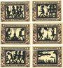 Banknotes Glauchau. Stadt. Série de 6 billets. 1/2 mark 1.5.1921