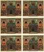Banknotes Glauchau. Stadt. Série de 6 billets. 75 pf 1.5.1921
