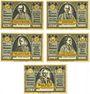Banknotes Glogau (Glogow, Pologne). Fürstbischöflisches Knabenkonvikt. Billets. 25, 50, 75 pf, 1, 5 mk, 2 mk