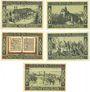 Banknotes Glogau (Glogow, Pologne). Stadt. Billets. 10 pf, 25 pf, 50 pf, 75 pf, 1 mark 1.12.1920