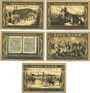 Banknotes Glogau (Glogow, Pologne). Stadtbank. Billets. 25 pf, 50 pf, 75 pf, 1 mark, 2 mark (1922)