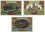 Banknotes Gnarrenburg. Gemeinde. Billets. 25 pf, 50 pf, 75 pf (1921)
