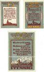 Banknotes Gnoien. Stadt. Billets. 10 pf, 25 pf, 50 pf (1922), Reutergeld
