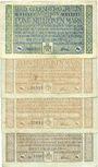 Banknotes Godesberg, Bad. Gemeinde. Billets. 5,10 (3ex de couleurs variées) millions mark 16.8.1923