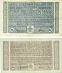 Banknotes Godesberg, Bad. Gemeinde. Billets. 5, 10 millions mark 16.8.1923
