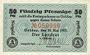 Banknotes Göggingen. Zwirnerei und Nähladenfabrik. Billet. 50 pf 10.5.1917, signature manuscrite