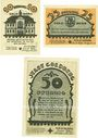 Banknotes Goldberg. Stadt. Série de 3 billets. 10 pf, 25 pf, 50 pf (juin 1922), Reutergeld