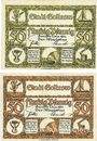 Banknotes Gollnow (Goleniow, Pologne). Stadt. Billets. 50 pf (2ex) 1.1.1921