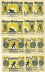 Banknotes Gollnow (Goleniow, Pologne). Stadt. Série de 12 billets. 50pf (6ex), 75 pf (6ex) 3.8.1921