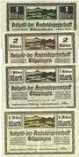 Banknotes Göppingen. Amtskörperschaft. Billets. 1 million mk, 2 millions mk, 5 millions mk, 1 millions mk 1923