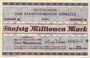 Banknotes Görlitz (Zgorzelec, Pologne). Stadt. Billet. 50 millions mark 21.9.1923