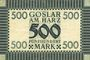 Banknotes Goslar. Stadt. Billet. 500 mark 1 oct 1922