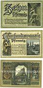 Banknotes Goslar. Stadt. Série de 3 billets. 10 pf, 25 pf, 50 pf juin 1920