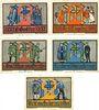 Banknotes Goslar. Stadt. Série de 5 billets. 2 mark (5ex) 2.7.1922