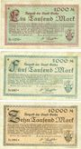 Banknotes Gotha. Stadt. Billets. 1 000, 5 000, 10 000 mark 8.2.1923