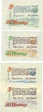 Banknotes Gotha. Stadt. Série de 4 billets. 50 pf 15.7.1921