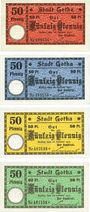 Banknotes Gotha. Stadt. Série de 4 billets. 50 pf 28.1.1917