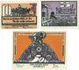 Banknotes Grabow. Stadt. Série de 3 billets. 10 pf, 25 pf, 50 pf (1922), Reutergeld