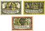 Banknotes Grabow. Stadt. Série de 3 billets. 25 pf, 50 pf, 75 pf (1921)