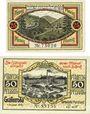 Banknotes Gräfenroda. Gemeinde. Billets. 25 pf (1921), 50 pf 1.8.1921