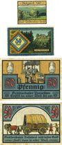 Banknotes Gräfenthal. Stadt. Billets. 10 pf, 50 pf 1921, 50 pf (2ex) oct 1921