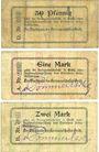 Banknotes Grätz (Grodzisk Wielkopolski, Pologne). Kreisausschuss. Billets.50 pf, 1mark, 2 mark n.d. - 1.1.1915