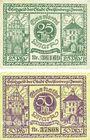Banknotes Greifenberg (Gryfice, Pologne). Stadt. Billets. 25 pf, 50 pf 7.11.1919