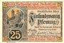 Banknotes Greiz. Bank für Handel und Industrie. Billet. 25 pfennig 1.1.1917
