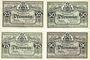 Banknotes Greiz. Stadt. Série de 4 billets. 25, 50, 75, 90 pf 5.9.1921
