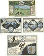 Banknotes Grevesmühlen. Stadt. Billets. 50 pf (1921), 10, 25, 50 pf (1922). Reutergeld