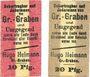 Banknotes Groß-Graben. Hugo Heimann. Kolonialwaren. Billets. 10 pf, 20 pf