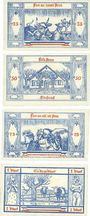 Banknotes Groß Nordende. Gemeinde. Série de 4 billets. 25 pf, 50 pf, 75 pf, 1 mark 1.9.1921