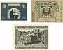 Banknotes Groß-Salze (Bad-Salzelman). Stadt. Billets. 10 pf, 25 pf 10.8.1920, 50 pf 15.2.1921