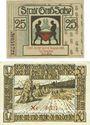 Banknotes Groß-Salze (Bad-Salzelman). Stadt. Billets. 25 pf 10.8.1920, 50 pf 15.2.1921