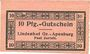 Banknotes Gross-Apenburg. Paul Zurleit. Lindenhof. Billet. 10 pf