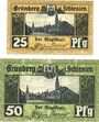 Banknotes Grünberg (Zielona Gora, Pologne). Stadt. Billets. 25 pf, 50 pf (1920) - 31.12.1921