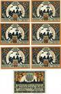 Banknotes Grünberg (Zielona Gora, Pologne). Stadt. Série de 7 billets. 50 pf (6ex), 75 pf 1922